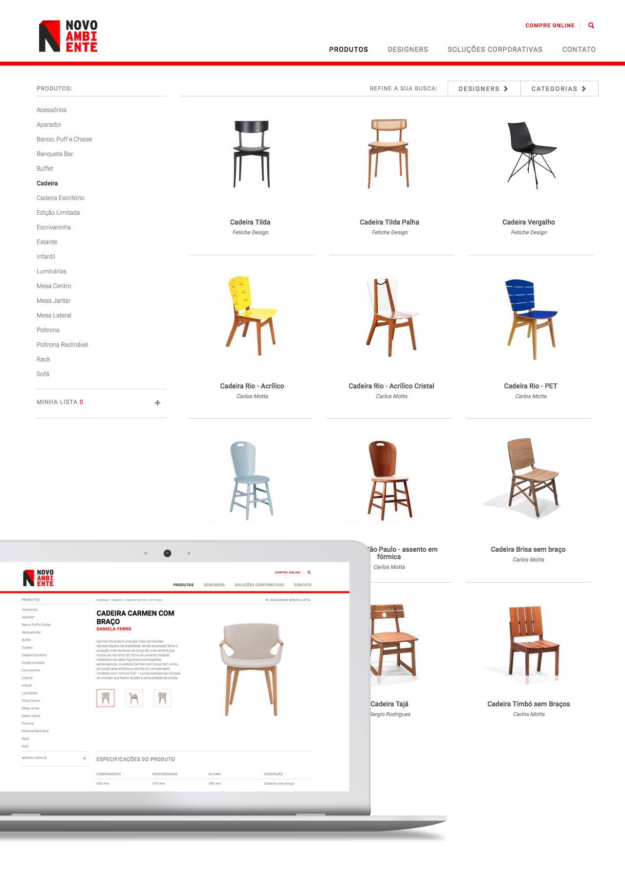 Novo Ambiente website